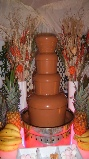 festival themed chocolate fountain