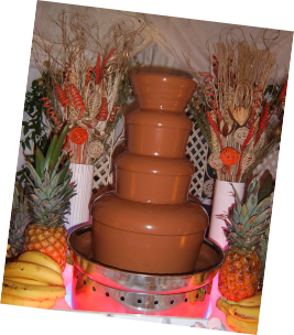 festival wedding style chocolate fountain